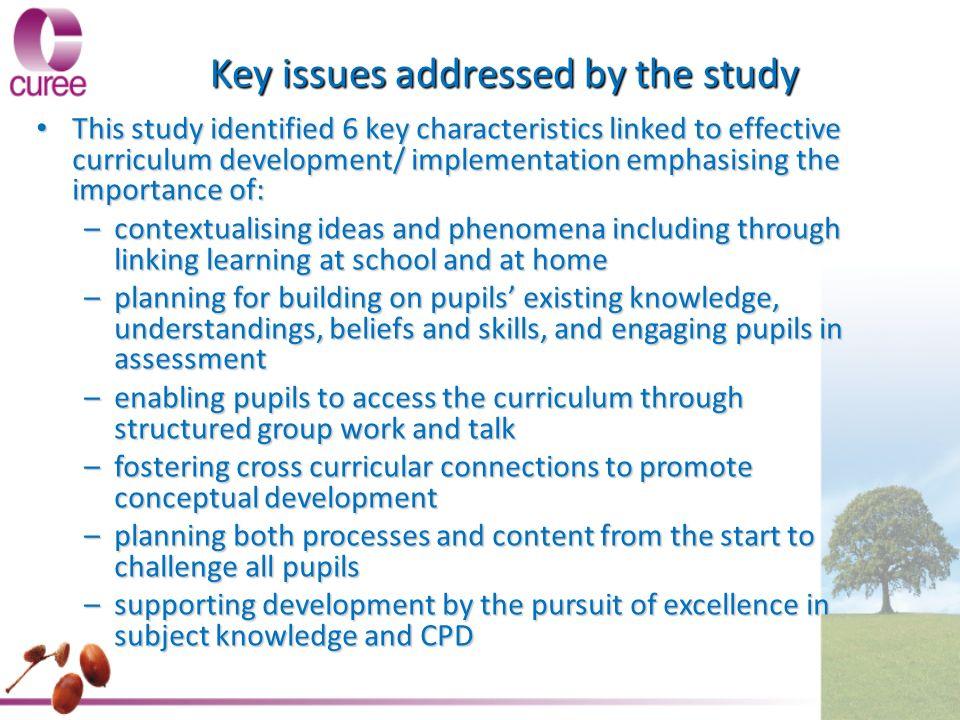 the importance of curriculum development