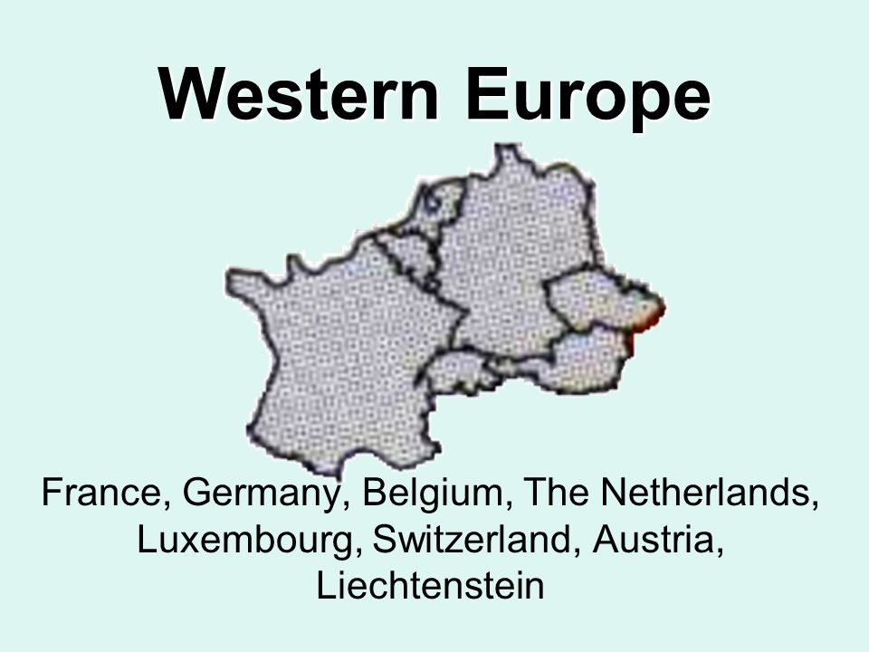 Map Of Germany Luxembourg Belgium.Western Europe France Germany Belgium The Netherlands Luxembourg