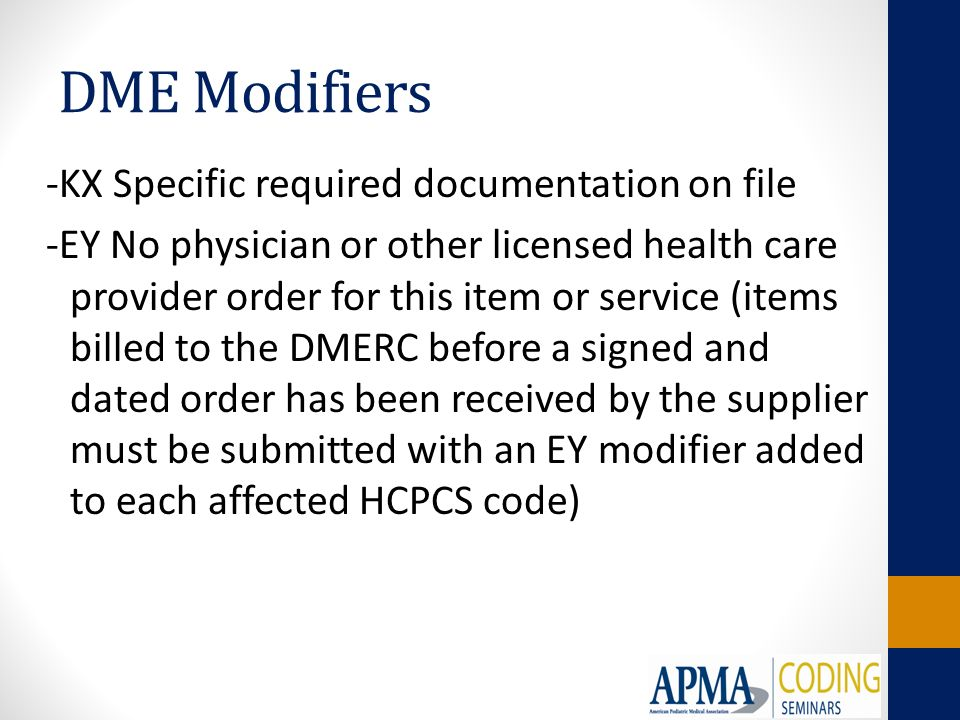 Modifiers and Place of Service Codes Presented by: - ppt