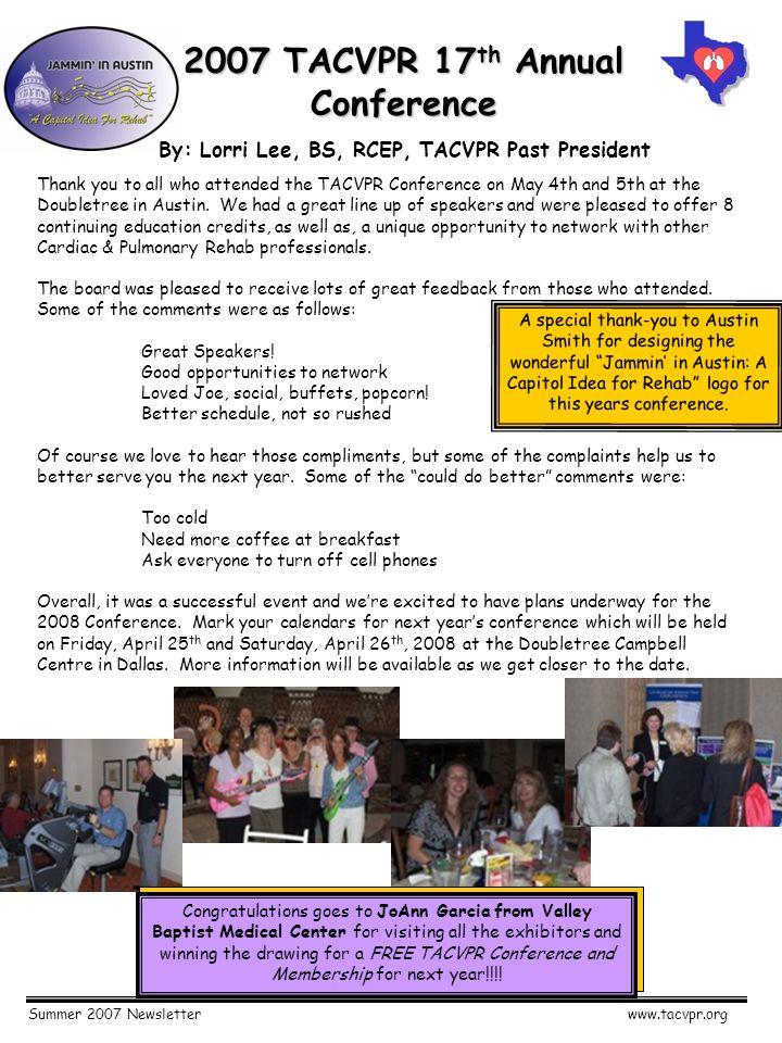 summer 2007 newsletterwww tacvpr org texas association of