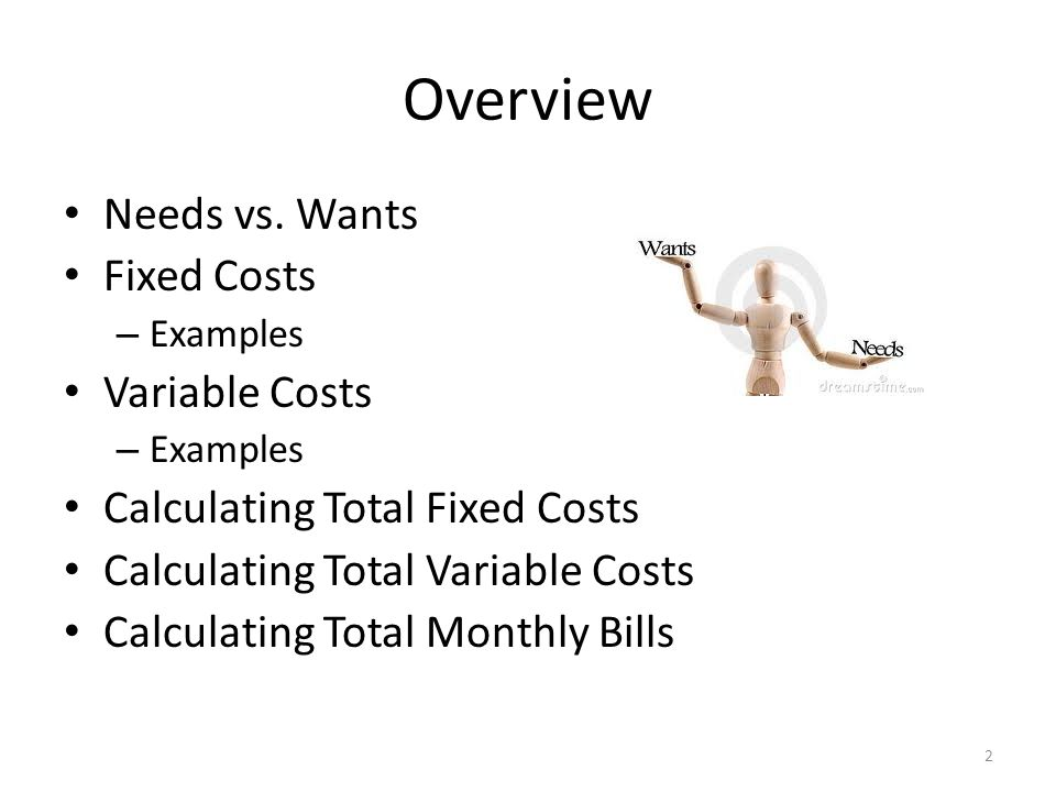 Fixed Variable Costs Consumer Math Ppt Download