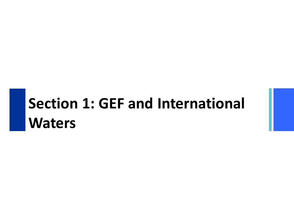 Section 1: GEF and International Waters