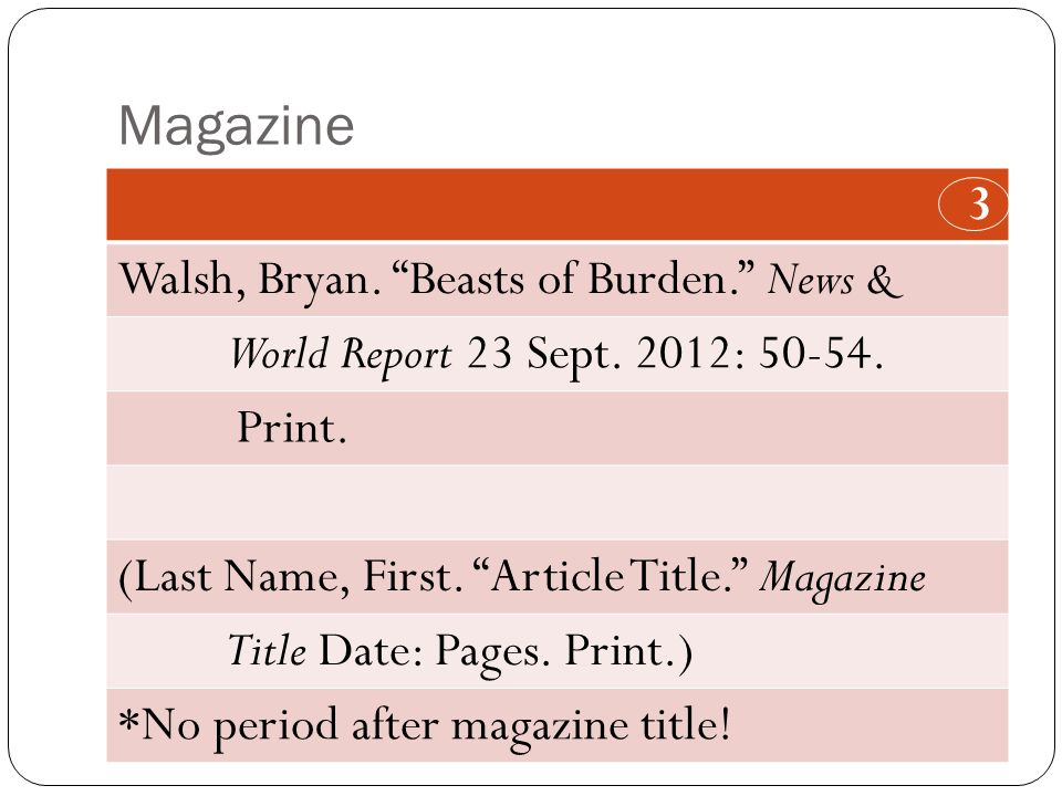 Magazine 3 Walsh, Bryan. Beasts of Burden. News & World Report 23 Sept.