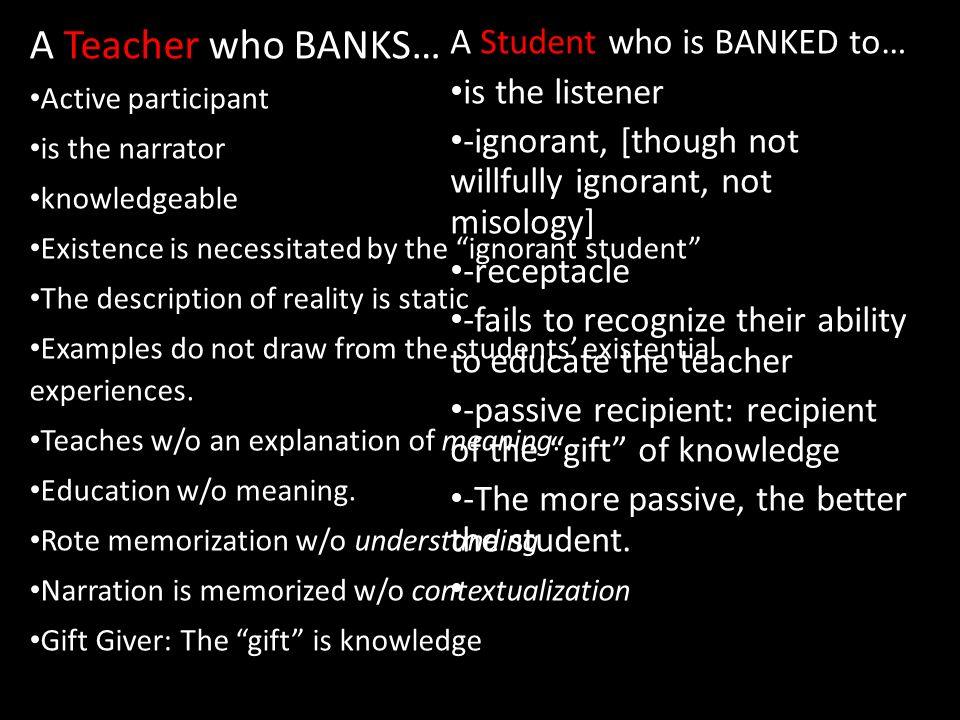 pedagogy of the oppressed summary
