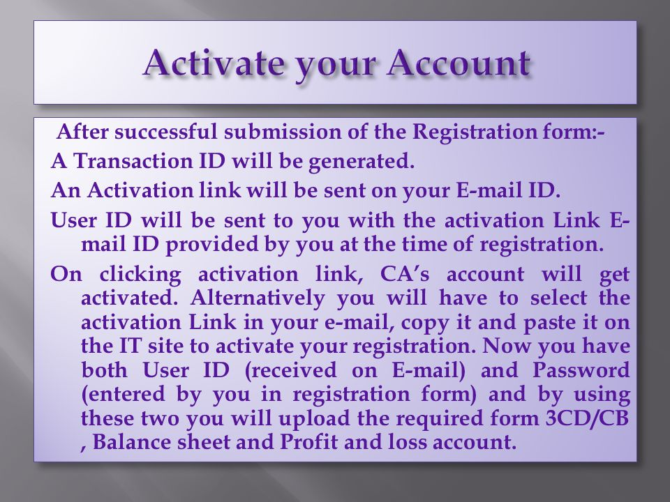 After successful submission of the Registration form:- A Transaction ID will be generated.