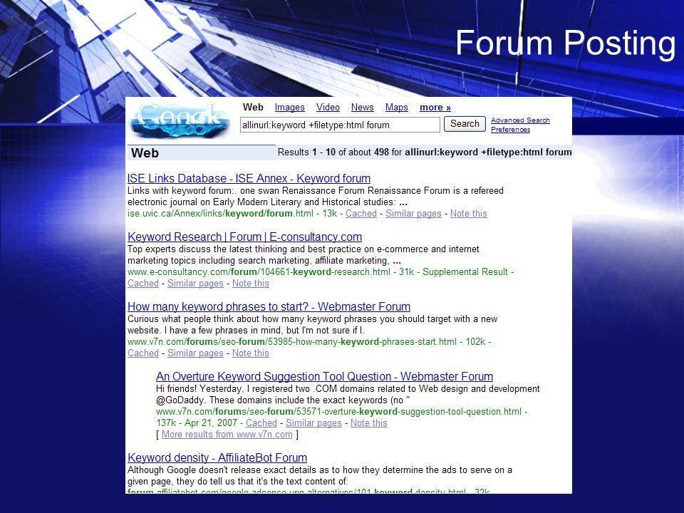 Seo Forum Website