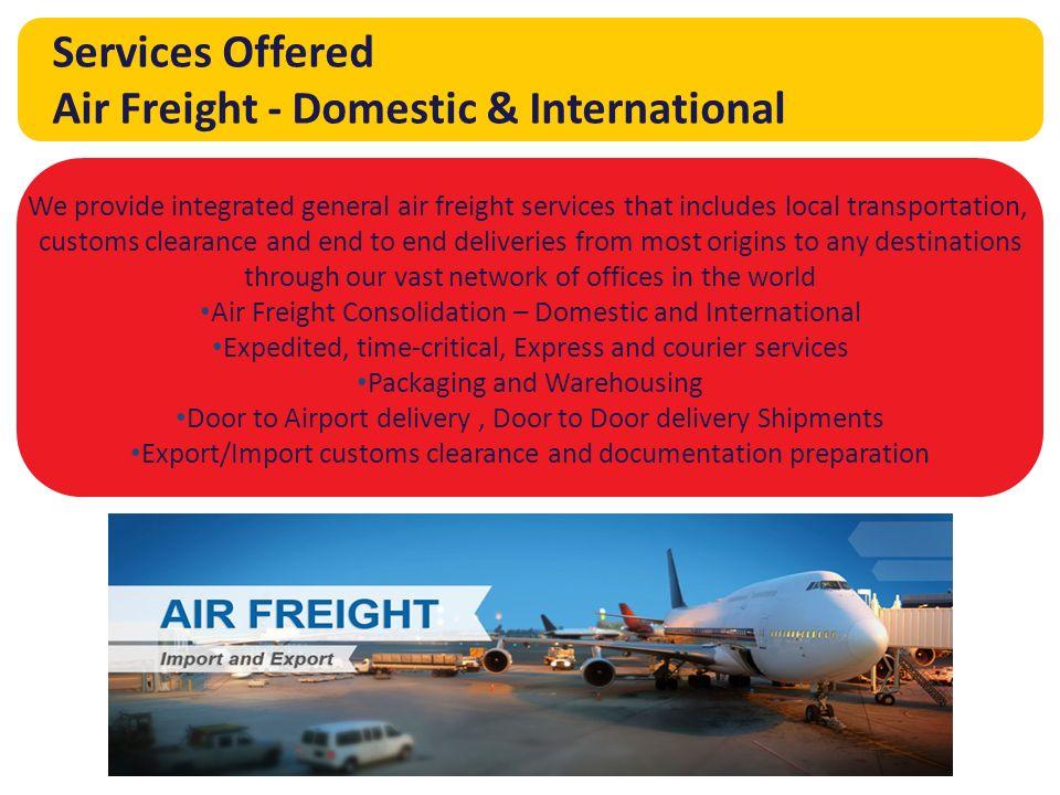 Sea Freight Air Freight Customs Management Warehousing