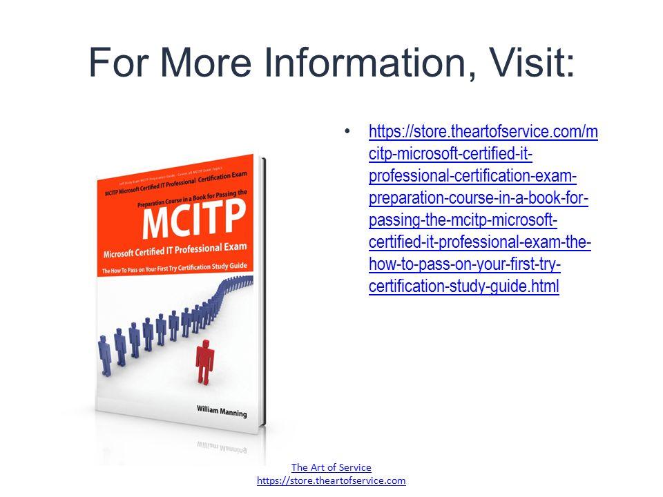 Mcitp Microsoft Certified It Professional Certification Exam