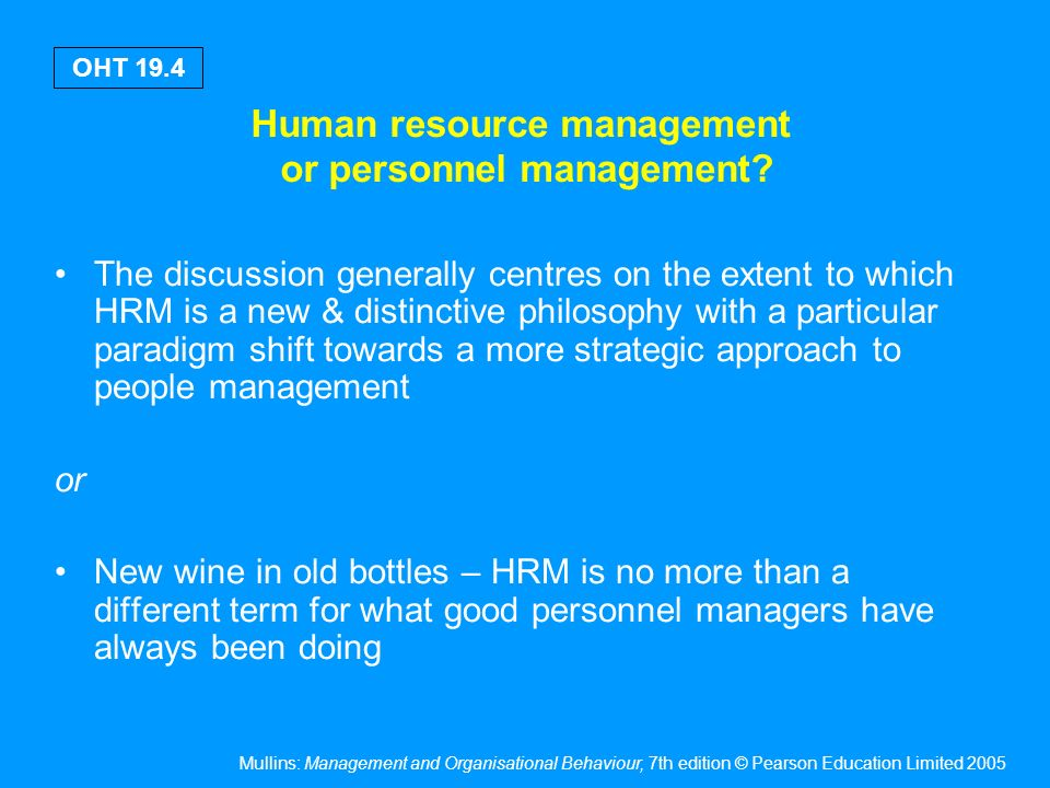 human resource approach to organisational behaviour