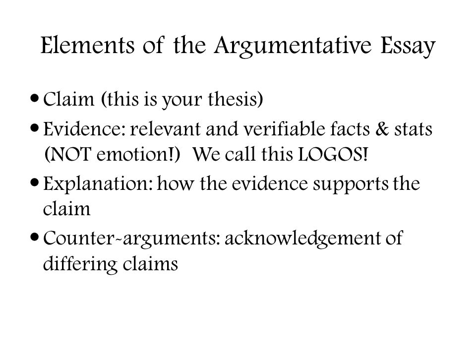 elements of an argumentative essay Elements of an argumentative essay unit plan common core september 19, 2018 / in eunice echos / by  even though i hate writing essays and stories if they shoot me a good quote and question about life,surely gonna do good.