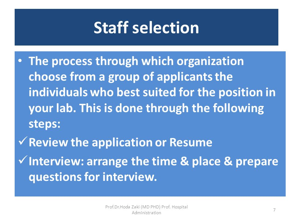 Lab Management (MLLM-401) By Dr  Hoda Zaki Prof  Hospital