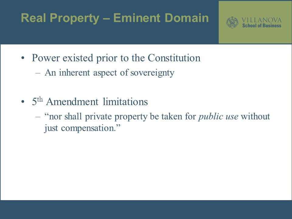 2 Real Property Eminent Domain