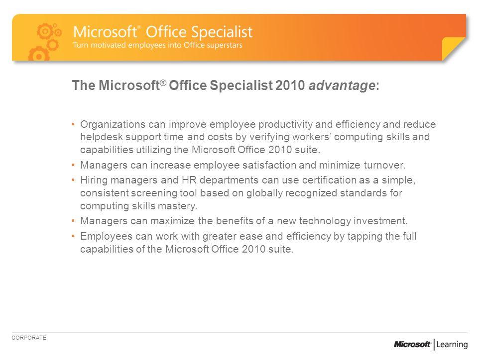 Certify Skills Through Microsoft Office Specialist Microsoft