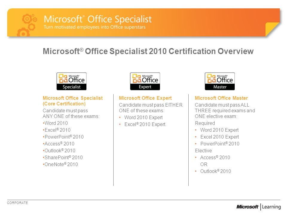 Certify Skills Through Microsoft Office Specialist Microsoft