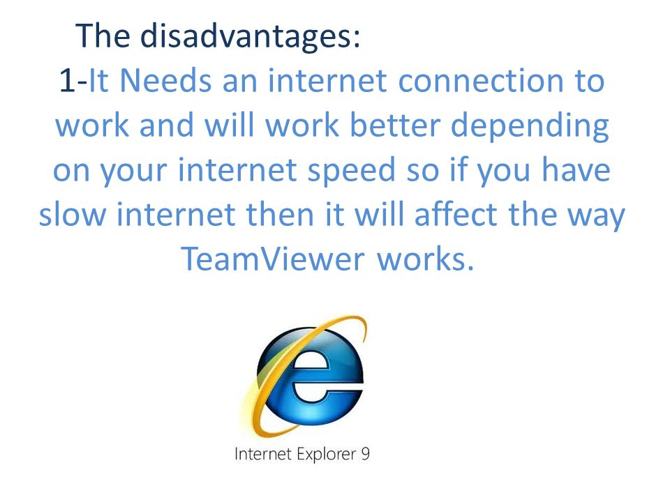 TeamViewer  TeamViewer is an easy and friendly way for