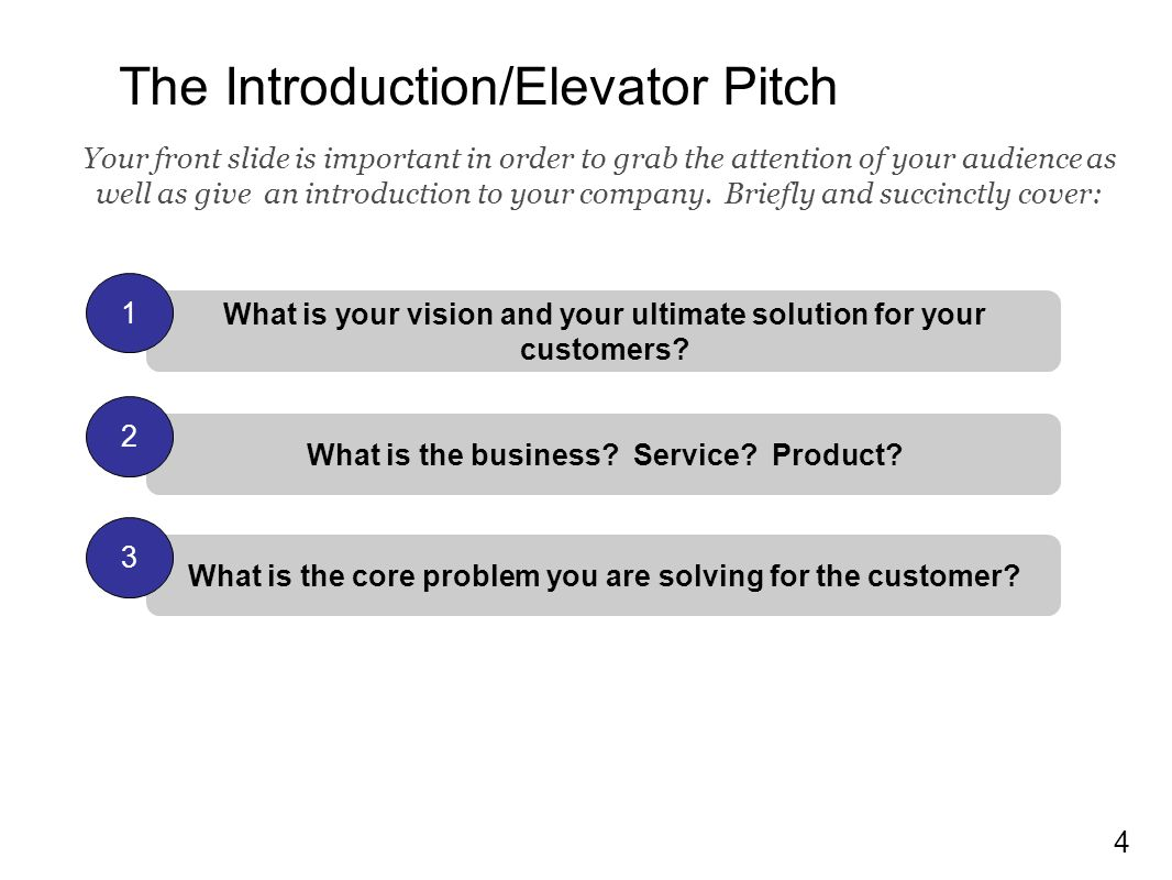 1 Pitch Deck: Use this template to write your business summary and ...