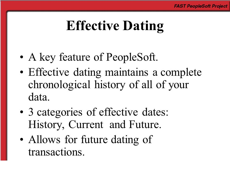 effective dating peoplesoft