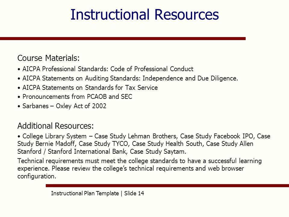 Instructional Plan Template | Slide 1 AET/515 Instructional