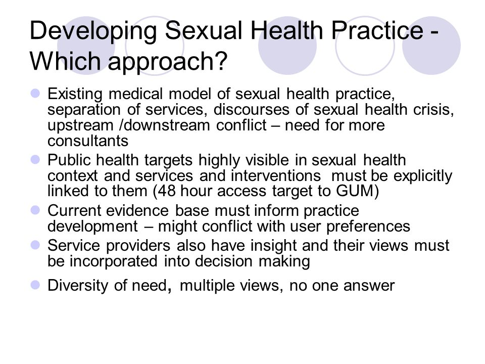 Medical model of sexual health