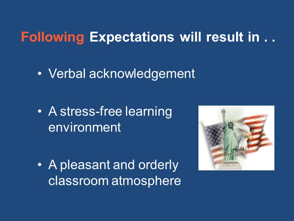 Following Expectations will result in..
