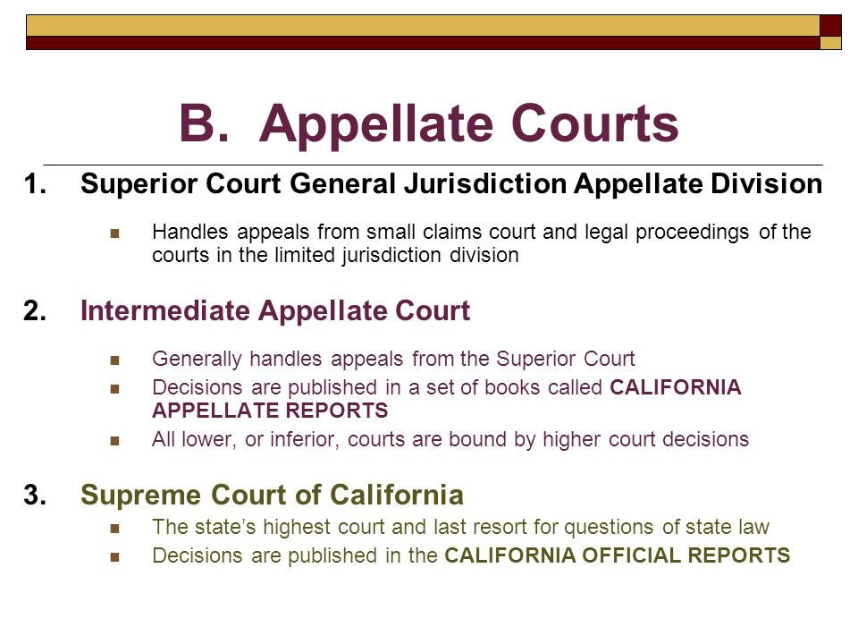 Chapter 2 Court Systems & Court Procedure  The court system