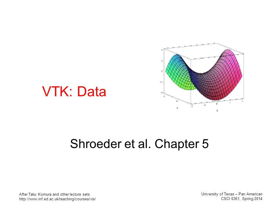 VTK: Data Shroeder et al  Chapter 5 University of Texas