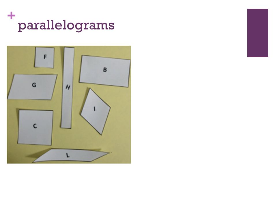 + parallelograms