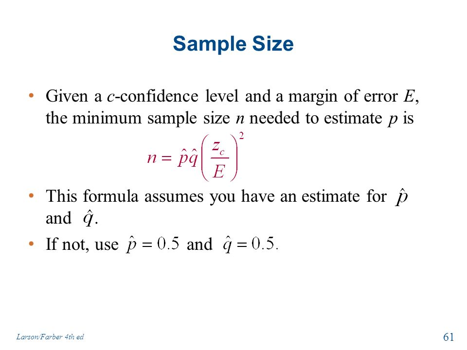 How to calculate sample size and margin of error youtube.