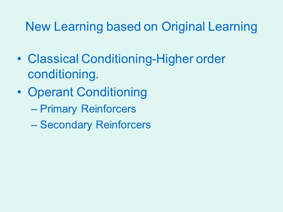 Learning Chapter Eight Definitions Learning The Process By Which