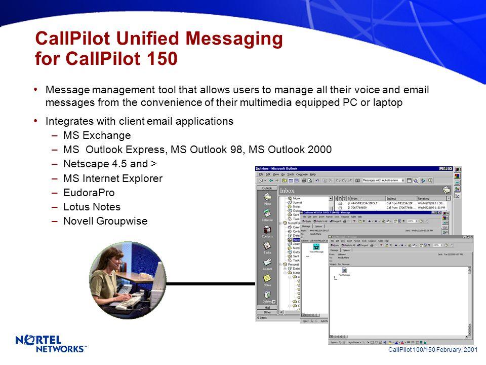CallPilot 100 & CallPilot 150 Voice Messaging Solutions for Norstar