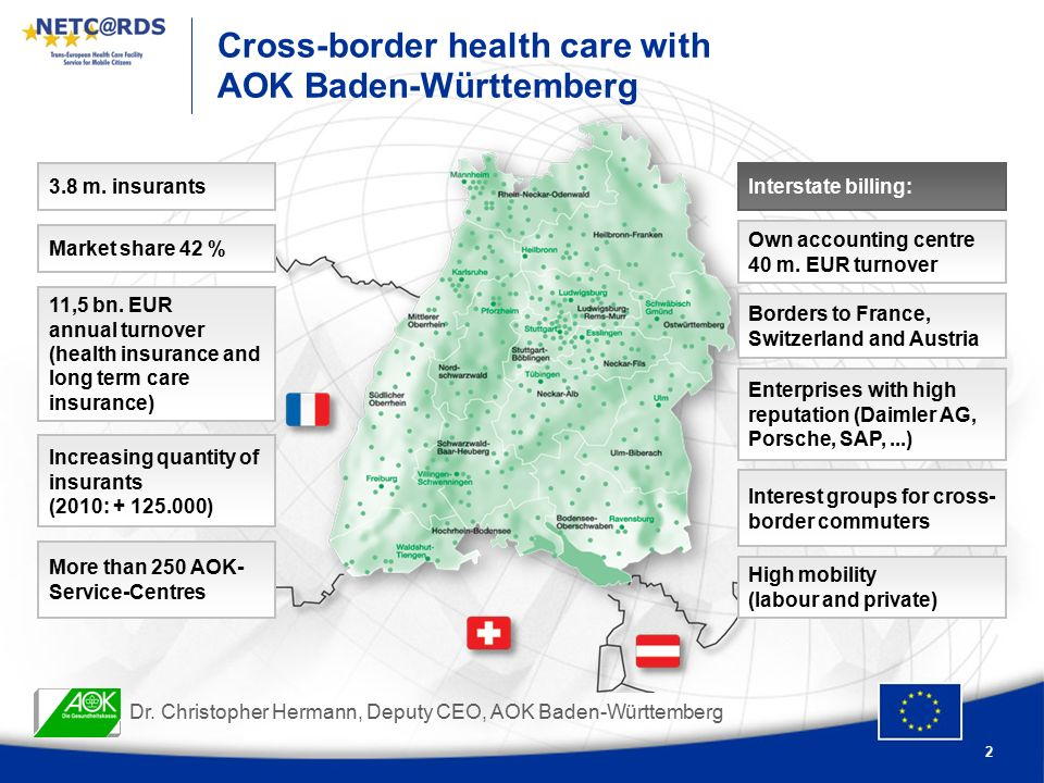 2 Cross-border health care with AOK Baden-Württemberg Dr.