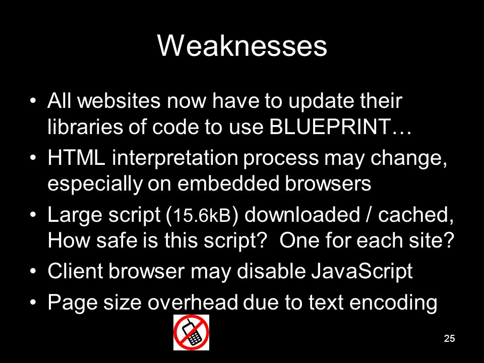 Blueprint robust prevention of cross site scripting attacks for 25 weaknesses all websites now have to update their libraries of code to use blueprint malvernweather Images