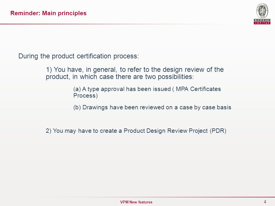 Vpm Product Certification Design Review February Ppt Download