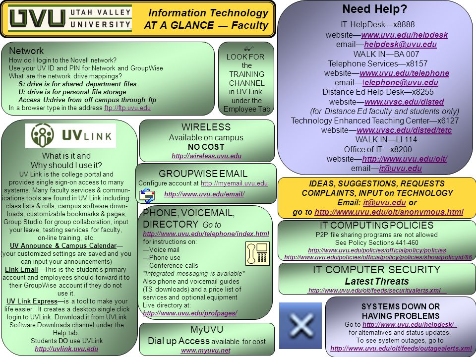 information technology at a glance u2015 faculty need help it helpdesk rh slideplayer com Faculty and Staff Only Faculty and Staff Directory