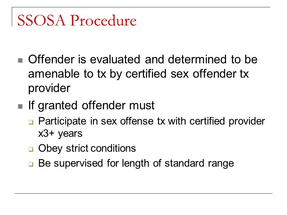 Sexual offender conditions of participation