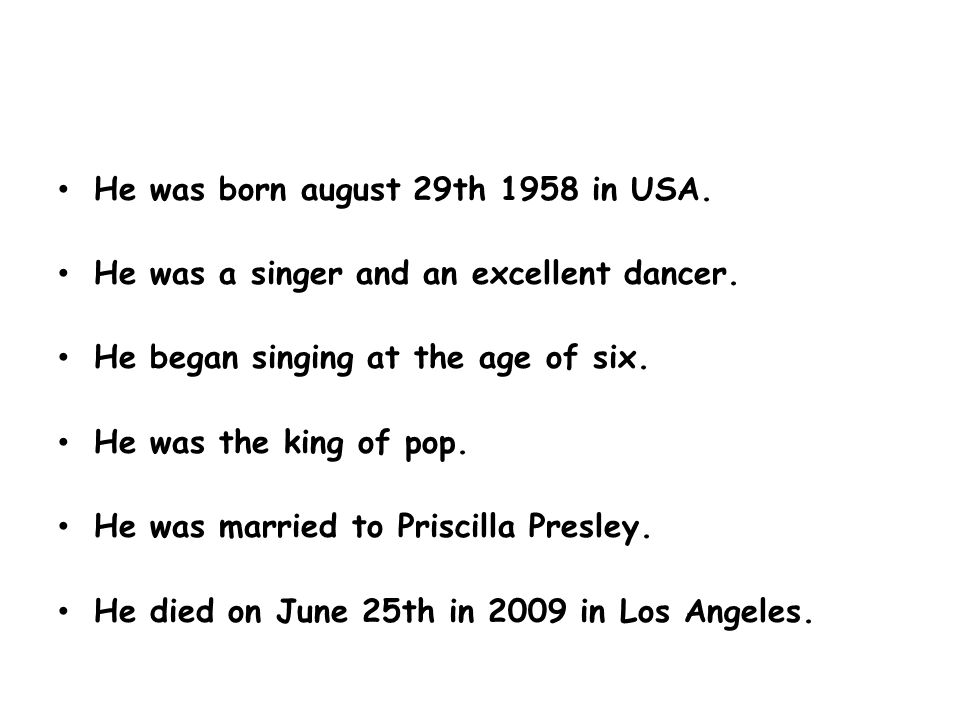 He was born august 29th 1958 in USA. He was a singer and an excellent dancer.