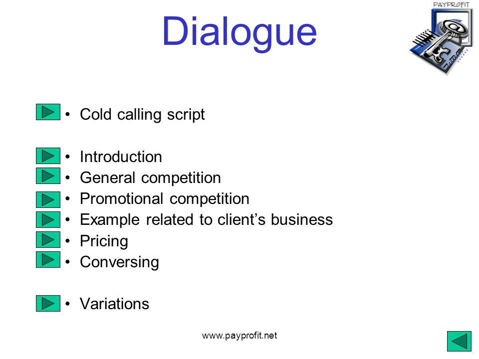 prsms sales dialogue dialogue cold calling script introduction