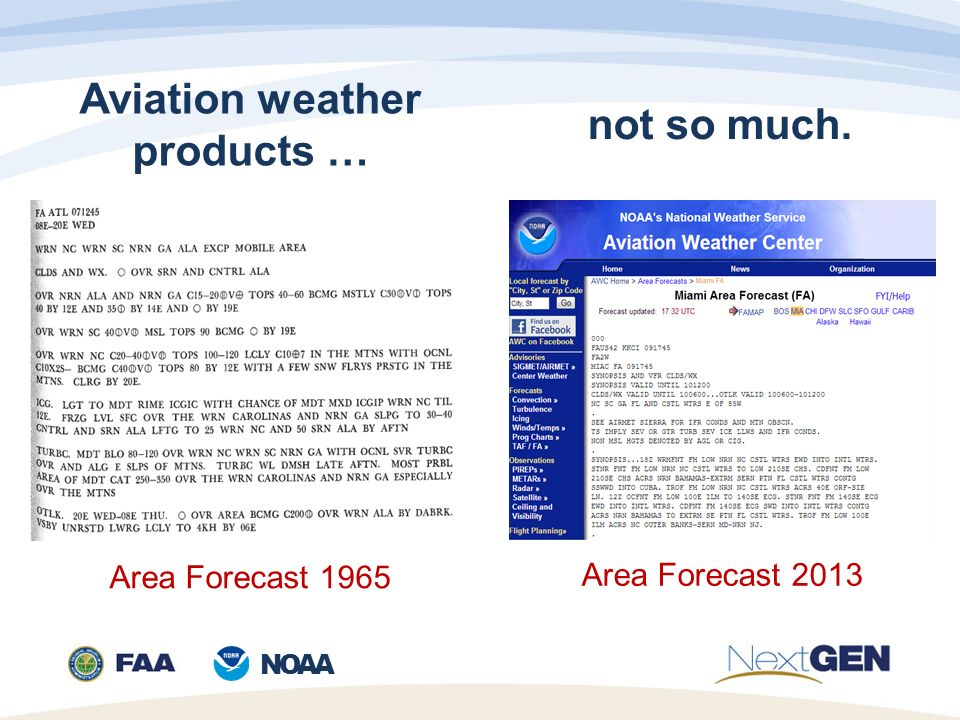 NOAA FAA-NWS Aviation Weather Weather Policy and Product