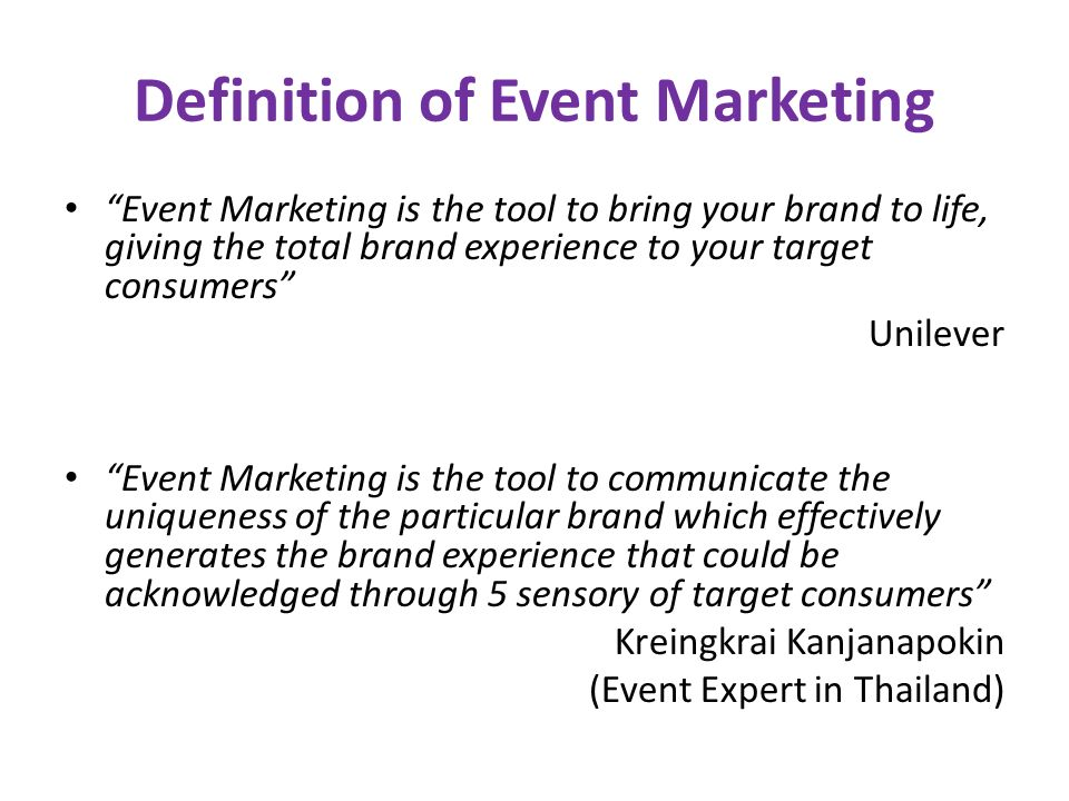 Event Marketing  Integrated Marketing Communication (IMC