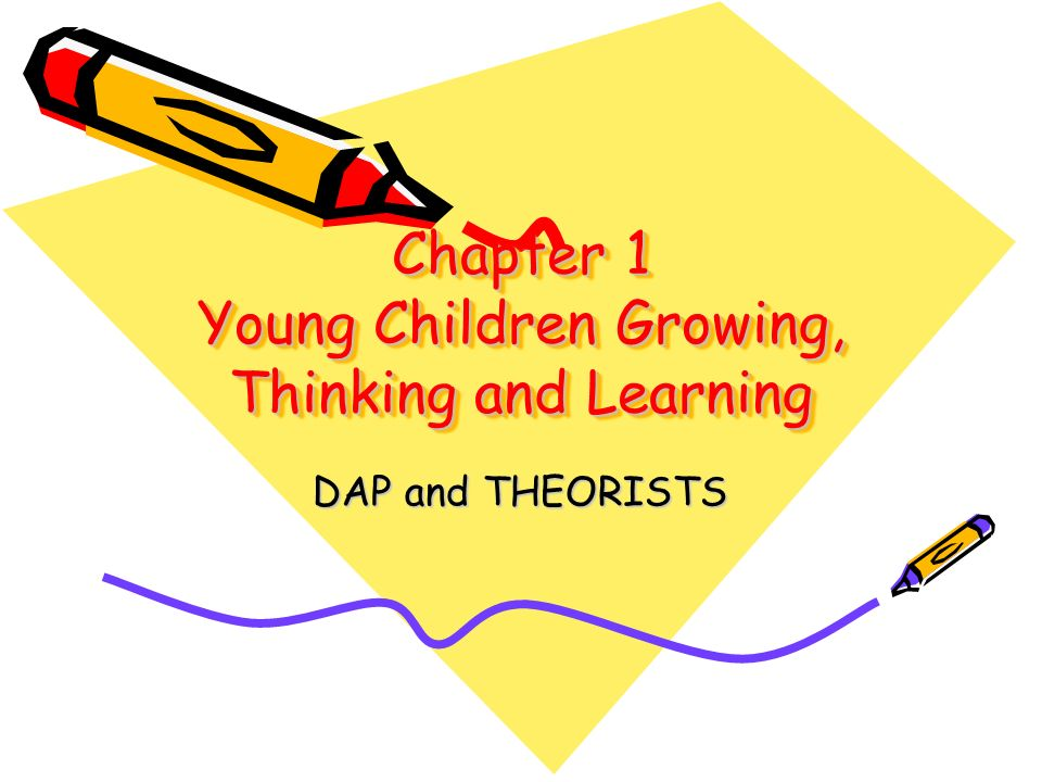 Chapter 1 Young Children Growing, Thinking and Learning DAP and THEORISTS