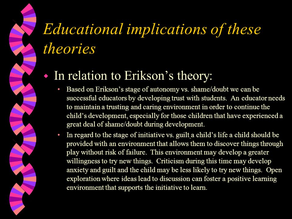 the implications of attachment theory for different Attachment theory 1 attachment theory for infants and toddlers, the set-goal of the attachment behavioural system is to maintain or achieve proximity to attachment figures, usually the parents.
