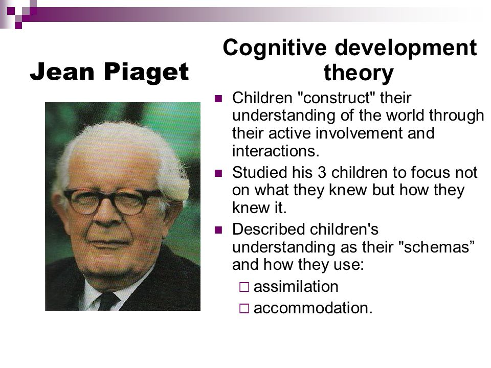 Piaget's stages of cognitive development: a closer look.