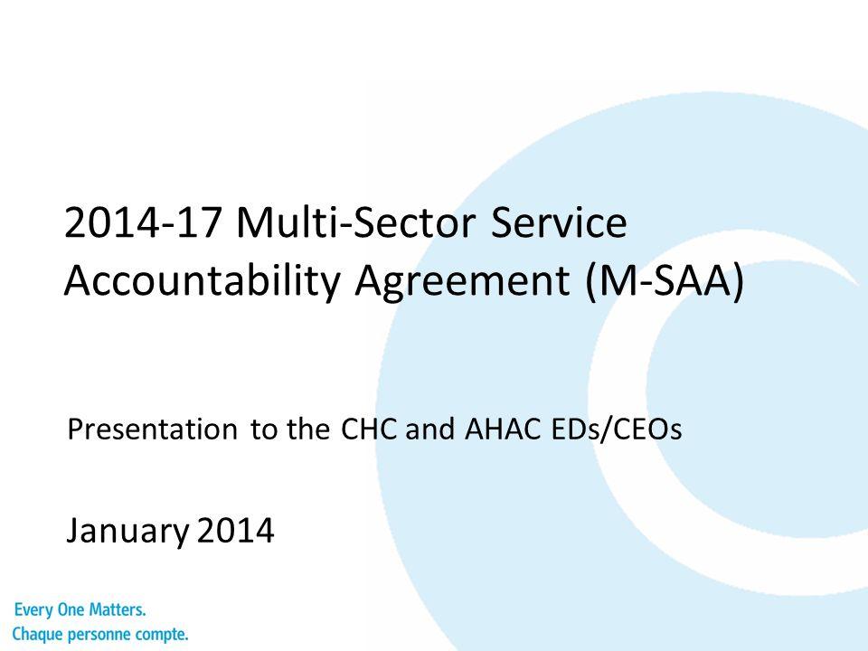 Multi Sector Service Accountability Agreement M Saa Presentation