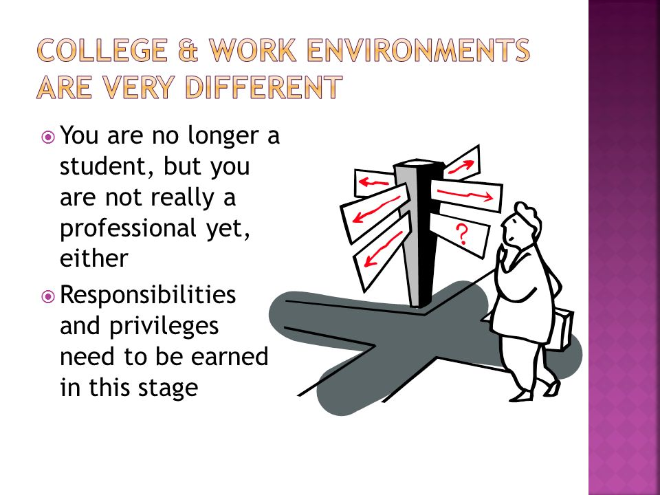 How to Make a Smooth Transition from College Life to Work - ppt