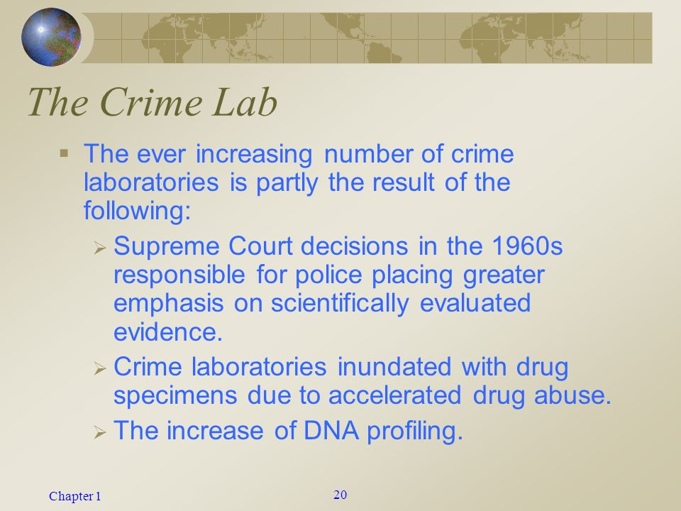 how many crime labs are in the us 2017