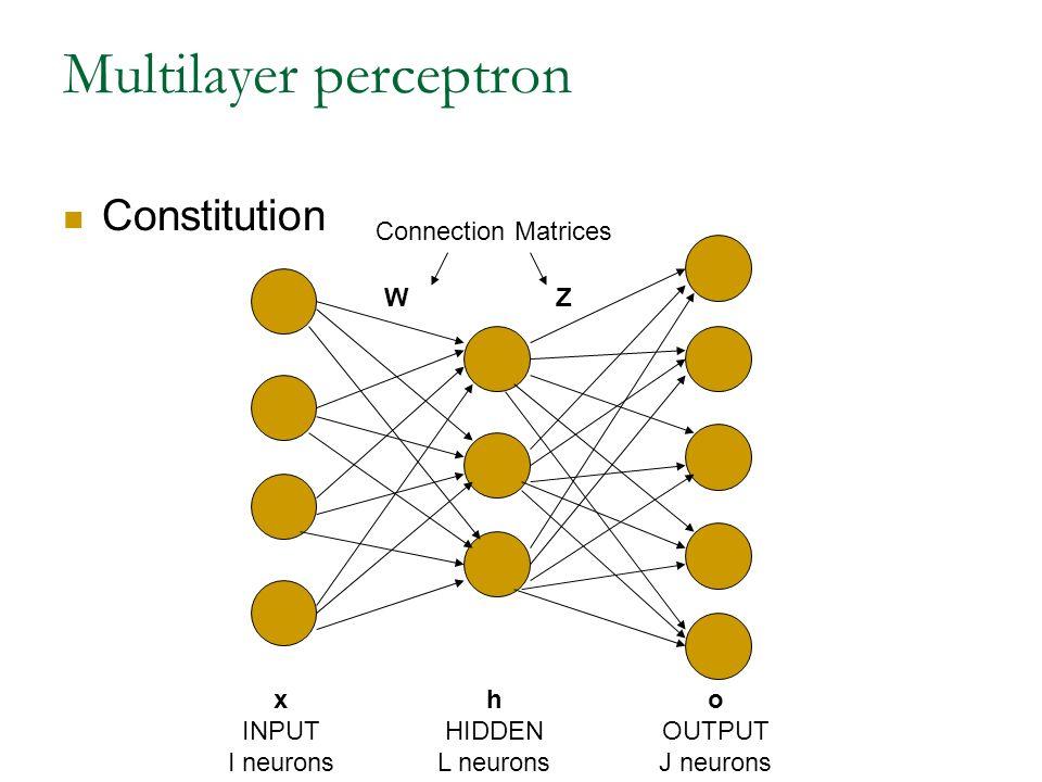 Neural networks plan perceptron linear discriminant associative 20 multilayer perceptron x input i neurons h hidden l neurons o output j neurons connection matrices wz constitution ccuart Choice Image