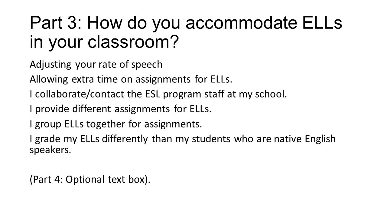 English Like Ours: Mainstream Middle School Educators