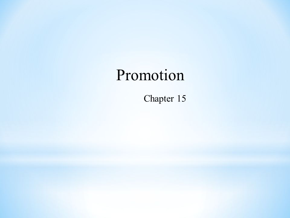 Promotion Chapter 15