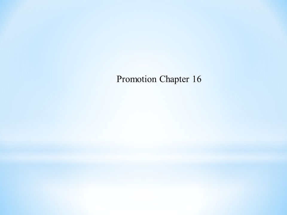 Promotion Chapter 16
