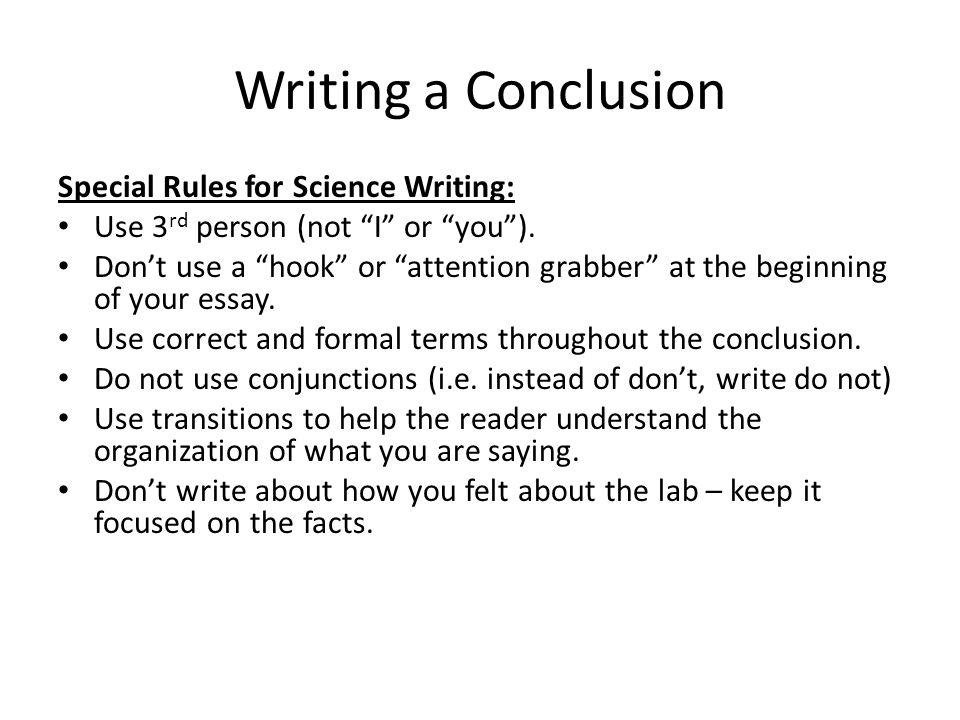what is a conclusion in science